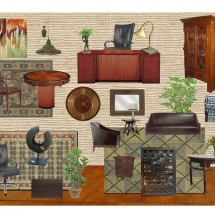 Office Style Board - Masculine Transitional