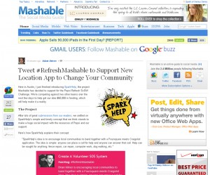 Mashable Website Screen Capture