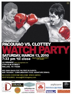 Pacquiao vs Clottey Exclusive DFW Watch Party