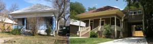 Porte Cochere addition, interior re-design and exterior renovation for a historic bungalow.