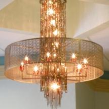 Elegant entryway chandelier. ABRIDstudio.com