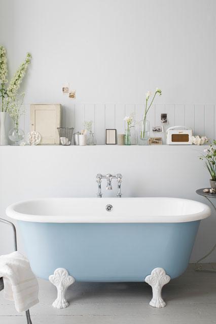 Blue Clawfoot Tub