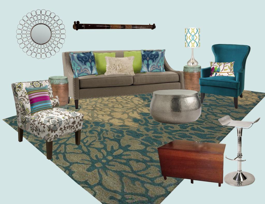 Jane's Living Room E-Design Style Board ABRIDstudio.com