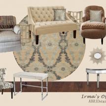 Irma's Office E-Design Style Board ABRIDstudio.com