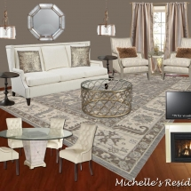 Michelle's Living Room E-Design Style Board ABRIDstudio.com