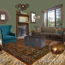 Steven's Living Room E-Design Style Board ABRIDstudio.com