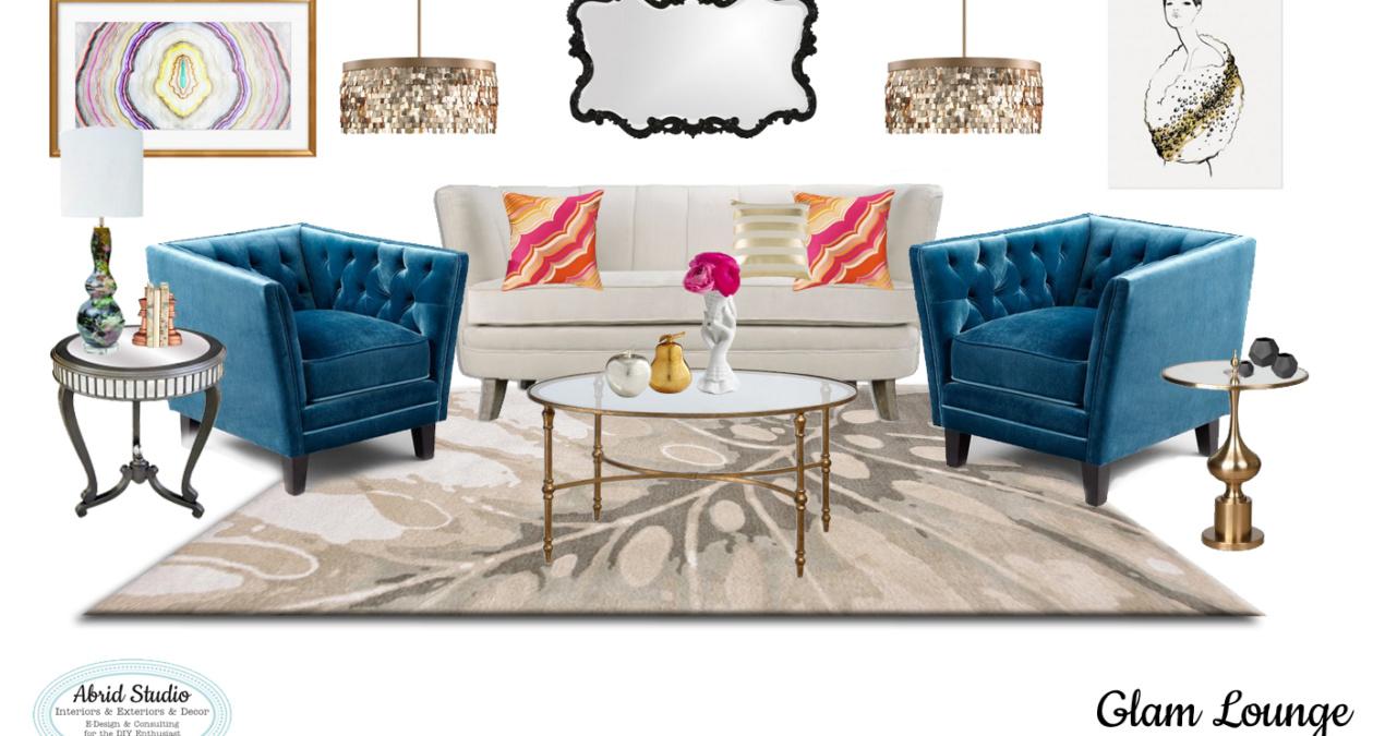 Modern Vintage Glam Living Room Design