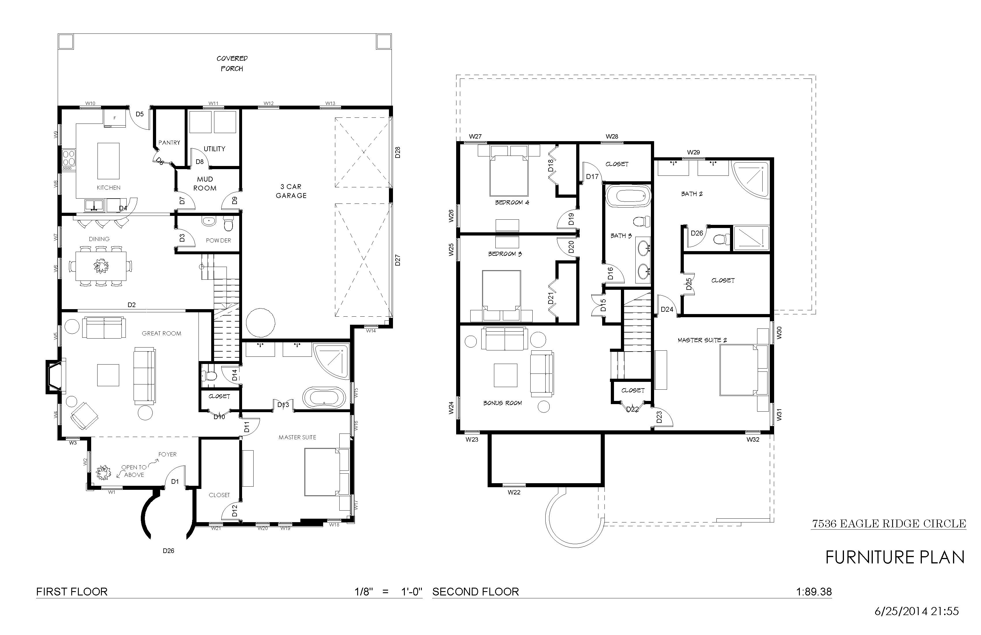 Interior design for Portfolio home plans