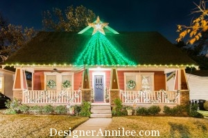 Craftsman Style House Christmas Lights