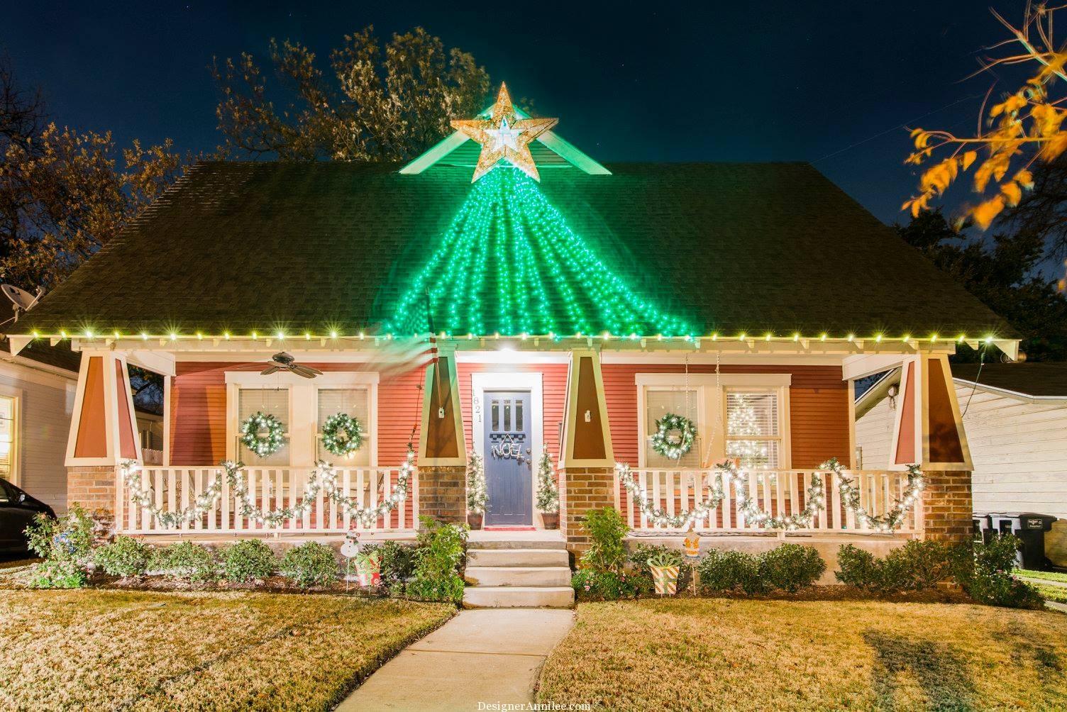 Craftsman Style House Christmas Lights