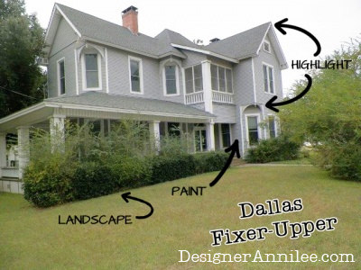 Exterior design and curb appeal ideas for a historic fixer upper.