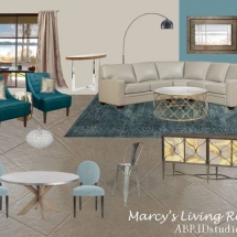 Edesign Interior Design Blue Living Room