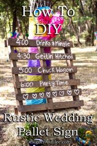 How To Make an Easy DIY Rustic Wedding Pallet Sign