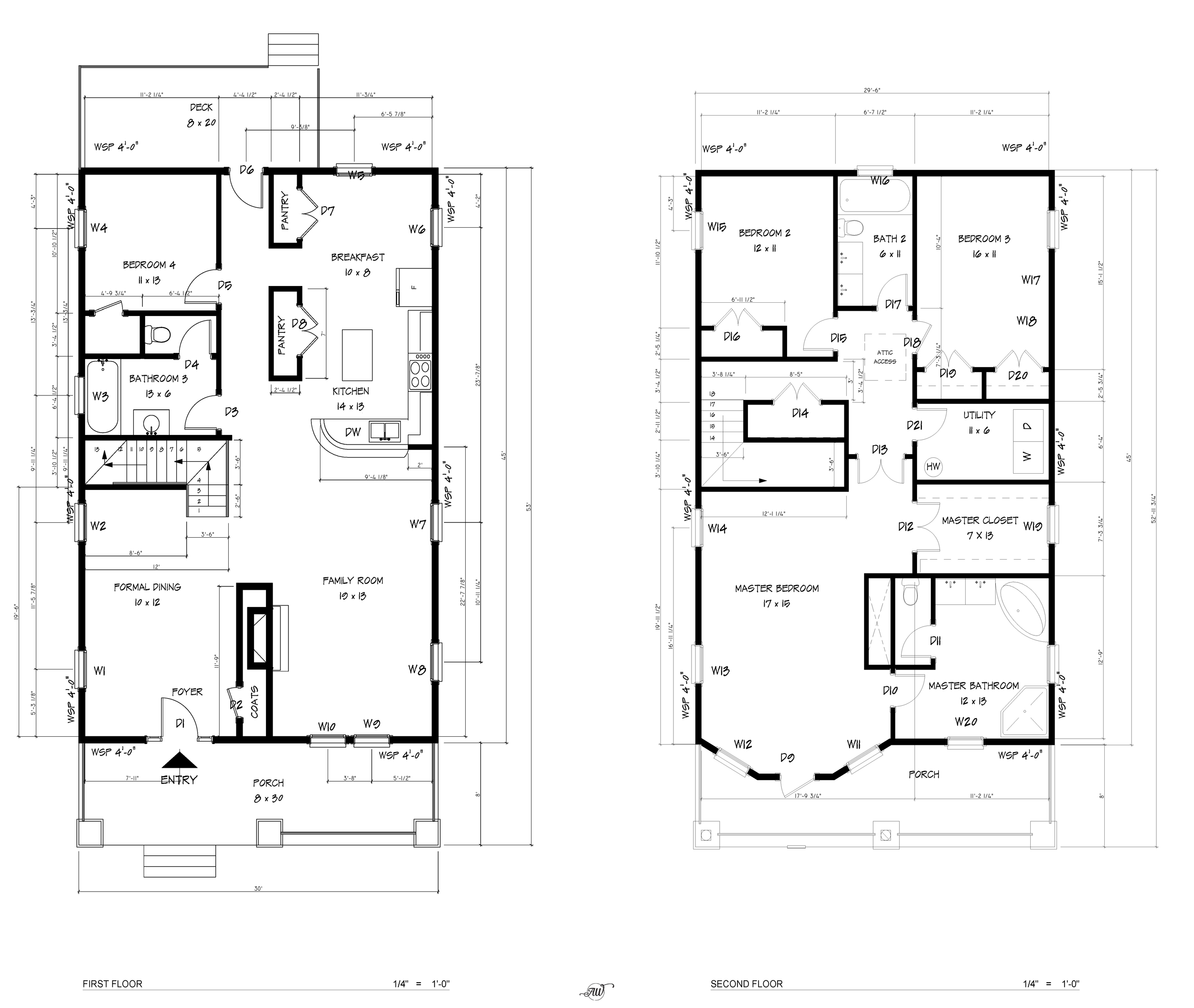 Historic Style Craftsman FLOOR-PLANS
