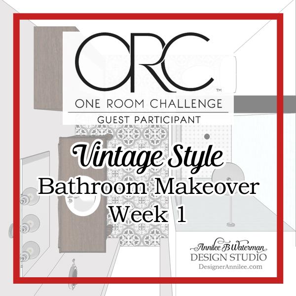 Vintage Style Bathroom One Room Challenge: Week 1