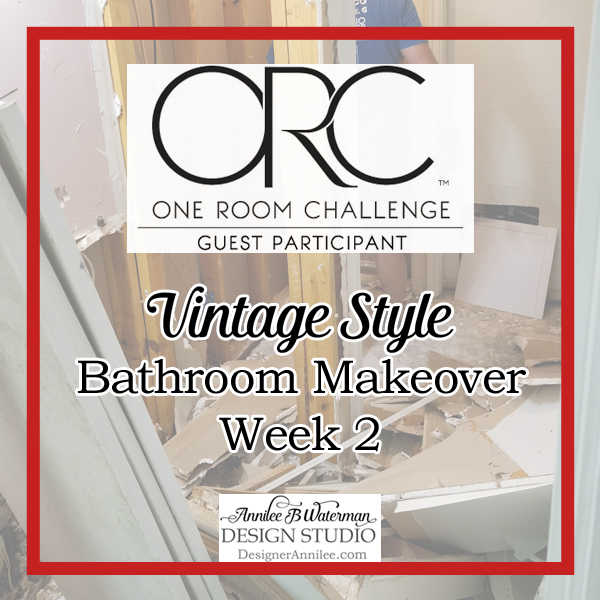 Vintage Style Bathroom One Room Challenge: Week 2