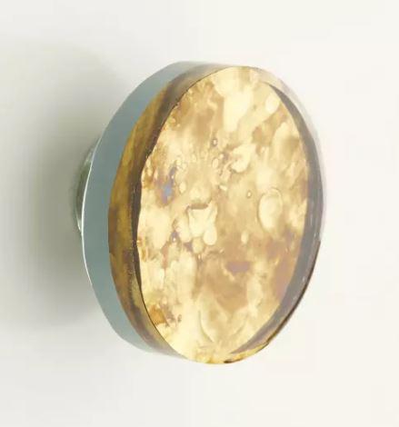 Oxidized Glass Cabinet Knob