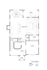 Storybook Cottage Home Plan First Floor