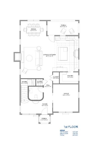 Storybook Cottage Home Plan First Floor