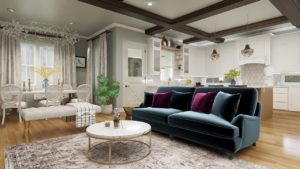 Living Room Interior Design Rendering