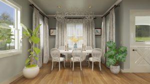 Dining Room Interior Design Rendering