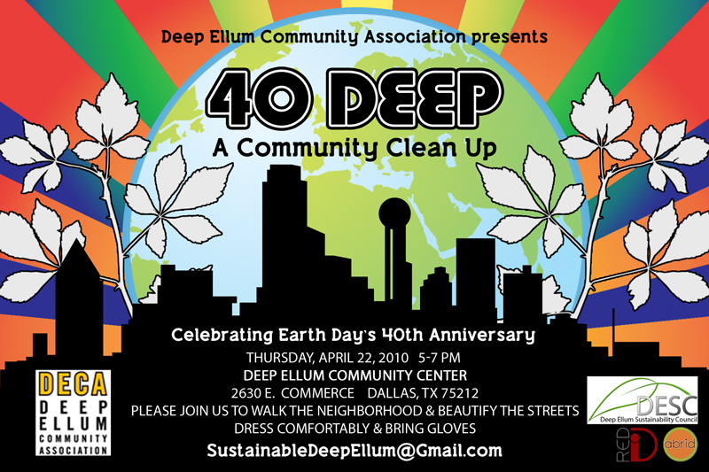 Graphic Design for Deep Ellum Earth Day