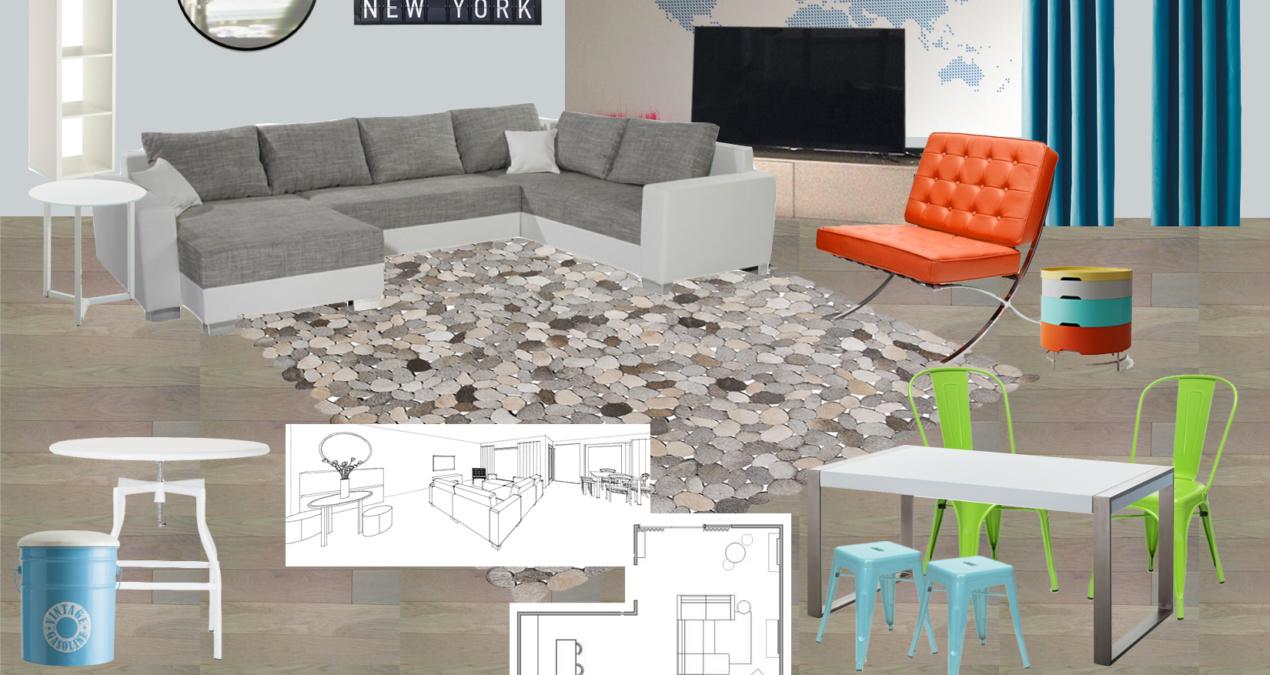Modern Mix Living Room E-Design