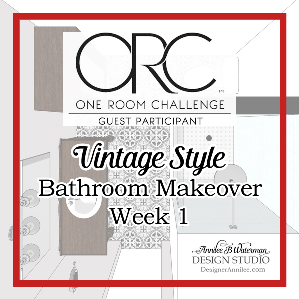 Vintage Style Bathroom One Room Challenge: Week 1