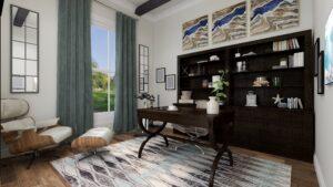 Home Office Interior Design Rendering