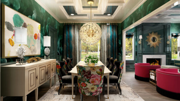 One Room Challenge Featured Designer Nikole Starr Interiors - Dining Room Rendering