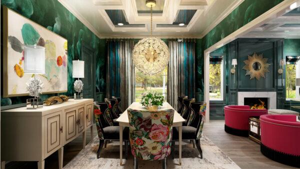 One Room Challenge Featured Designer Nikole Starr Interiors - Dining Room Rendering