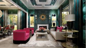 One Room Challenge Featured Designer Nikole Starr Interiors - Living Room Rendering