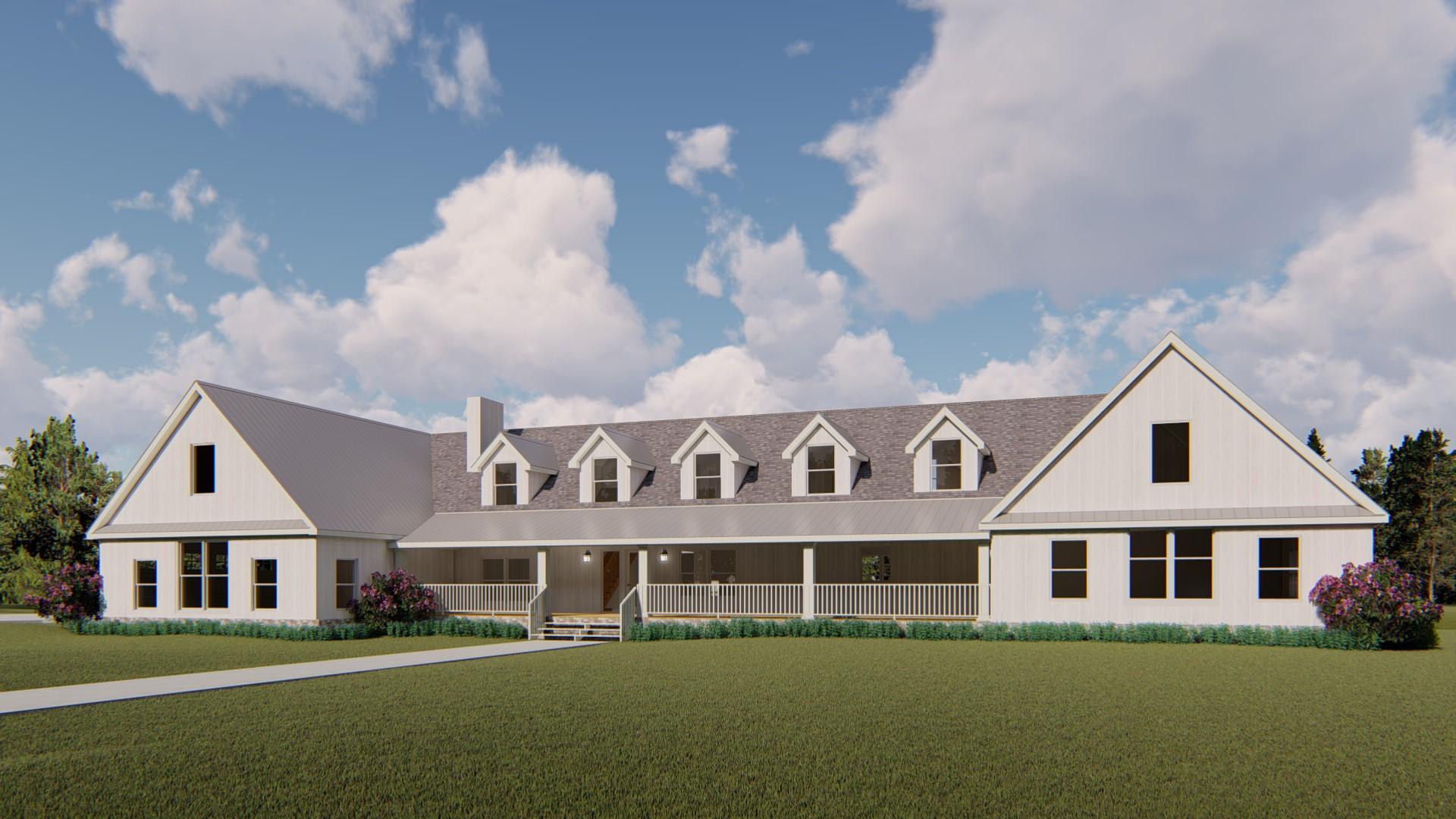 Custom Home Design - Colorado Farm House Style
