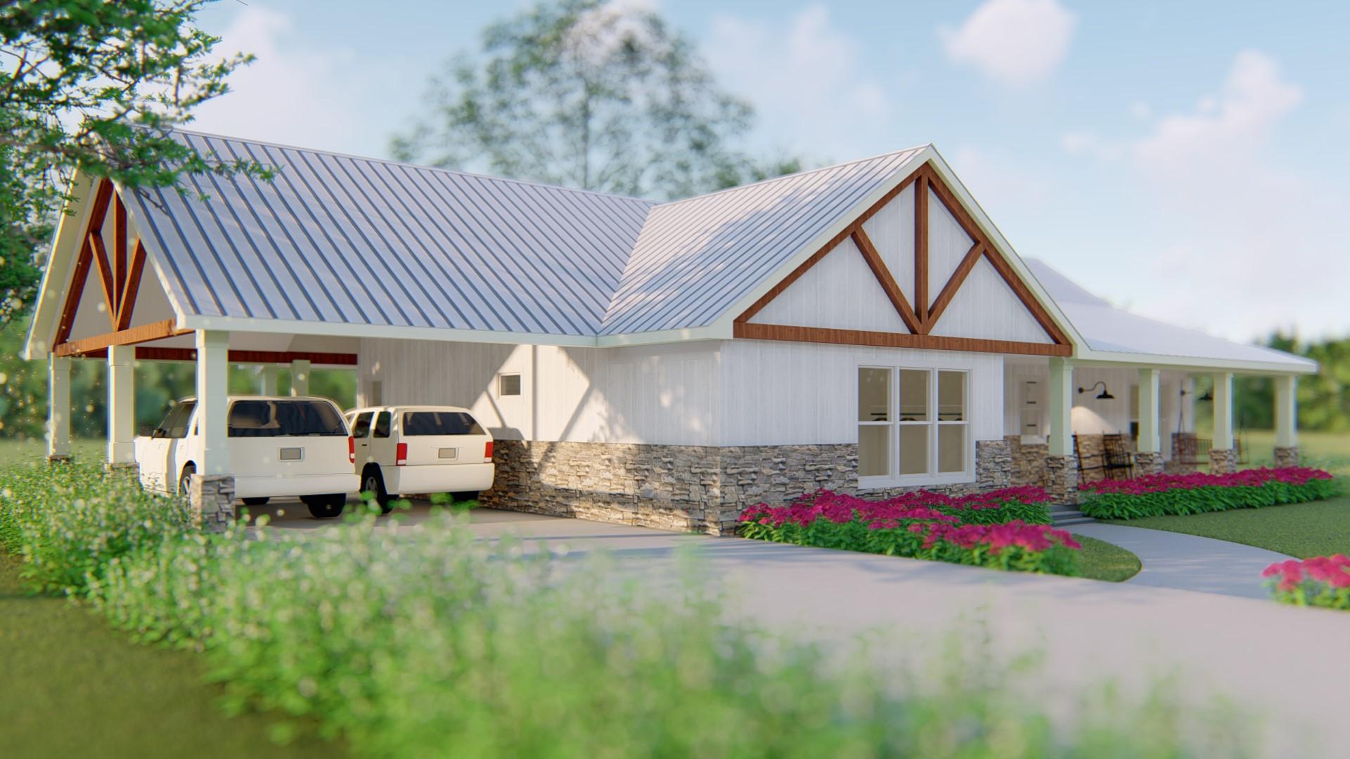Custom Home Design - Farm House Ranch Style