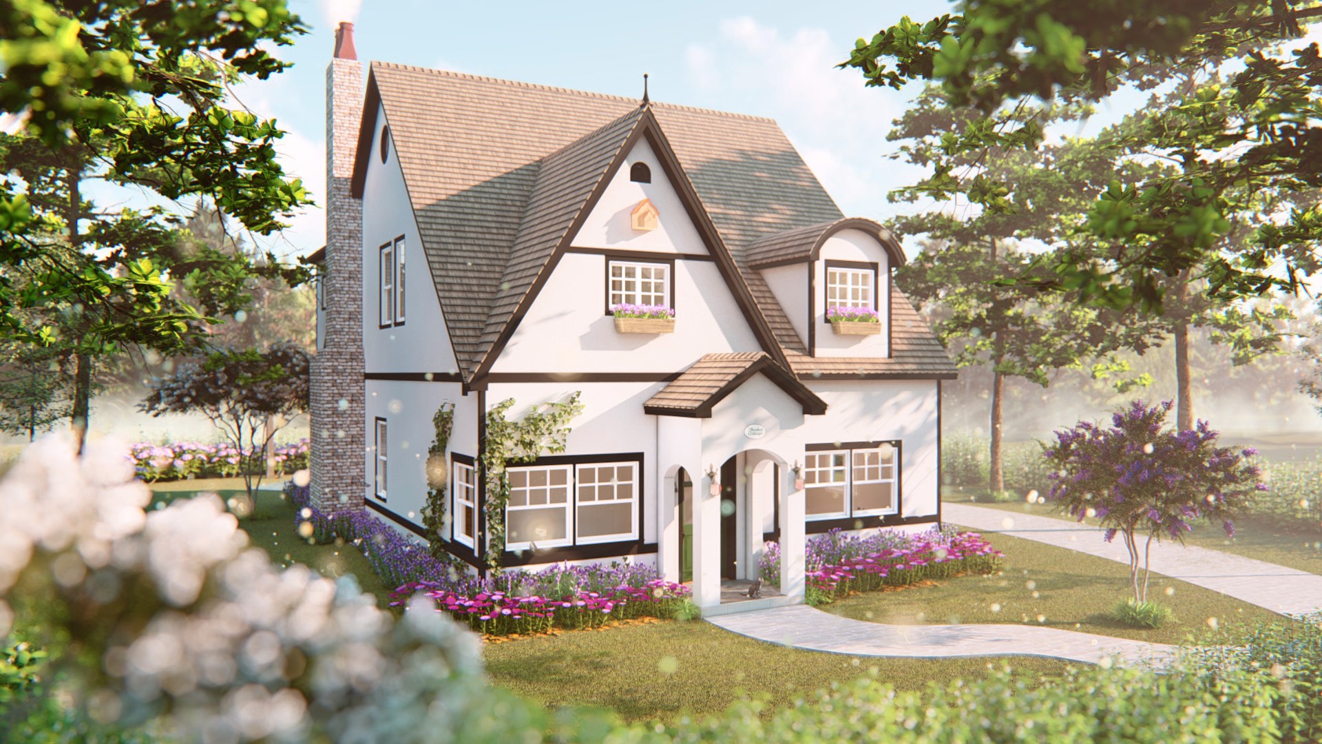 Custom Home Design - English Cottage Style